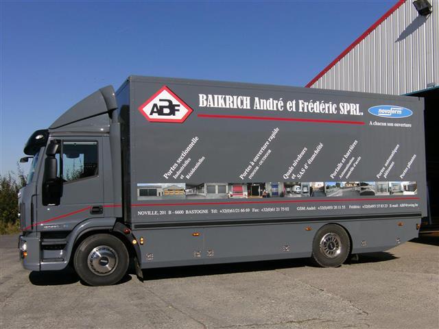 ABF Fermeture Baikirch Bastogne camion