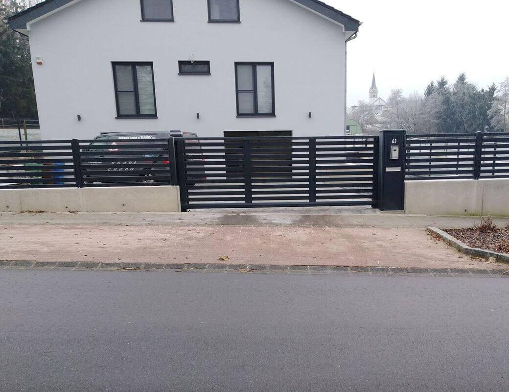 ABF Fermetures Noville realisation de portail maison individuelle