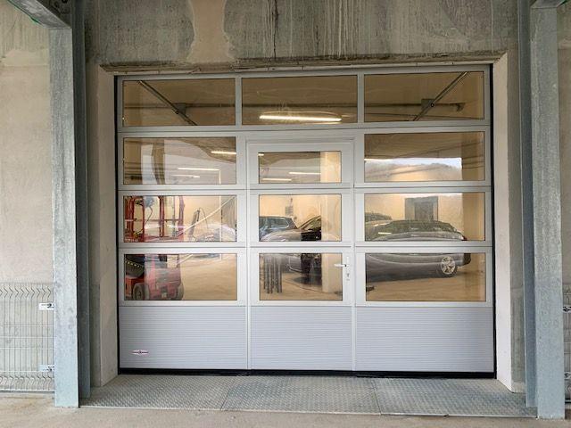 porte garage avec portillon ABF Fermetures