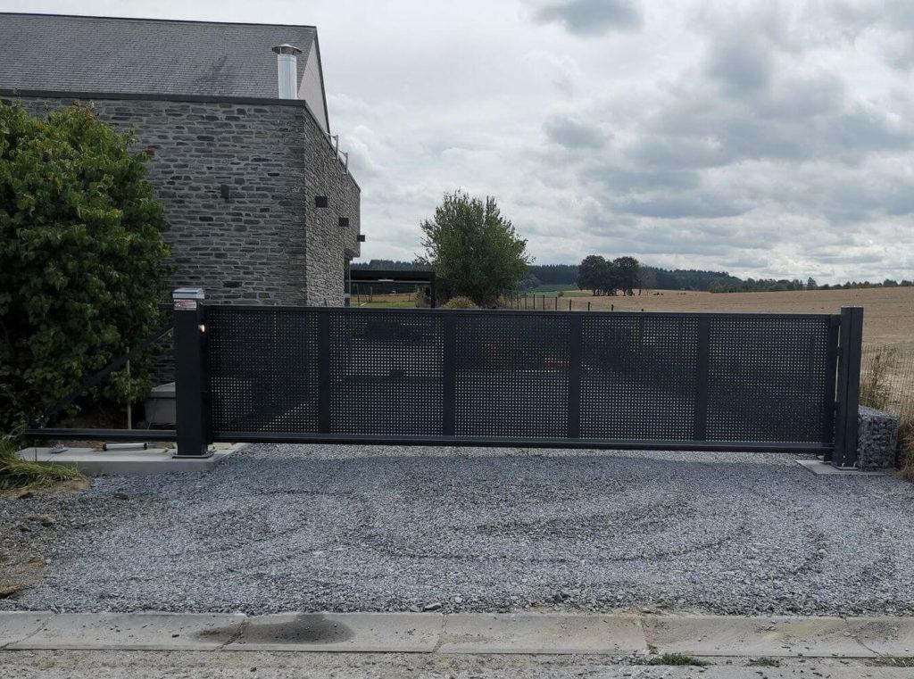 pose portail résidentiel abf fermetures bastogne Baikirch