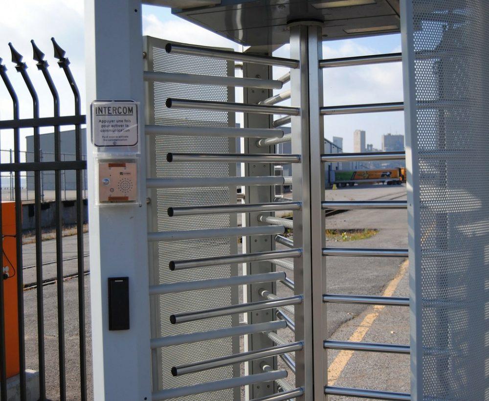 Portillon controle accès ABF fermeture bastogne